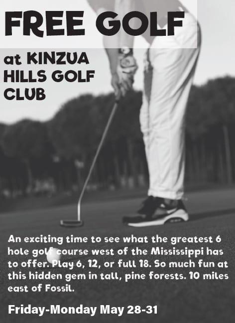 Starting Today: Free Golf at Kinzua Hills